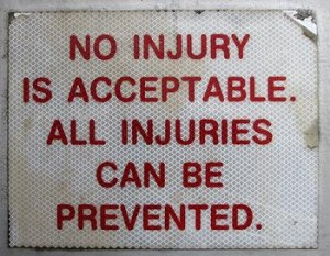 No injury is acceptable